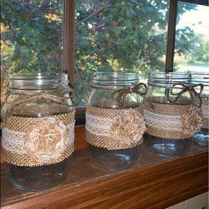 distressed glassworks Accents - Set of 4 Pint Jars